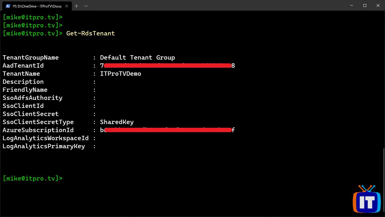 Verifying the service principal has access to the Windows Virtual Desktop tenant